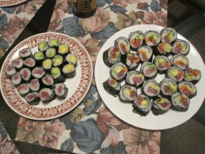Tuna and avocado sushi